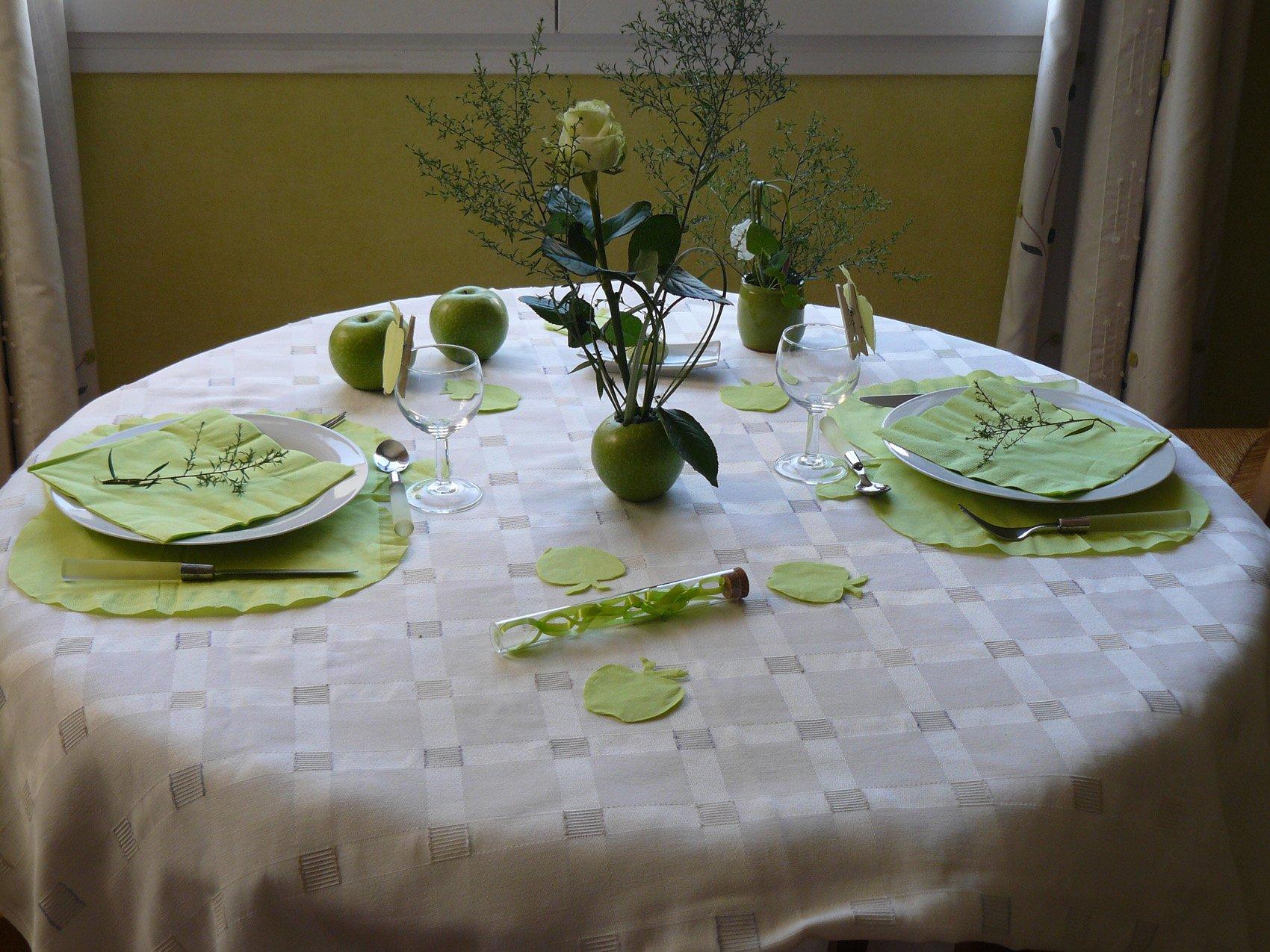 Croquer la pomme les bricolages d isa pour la - Decoration de la table ...