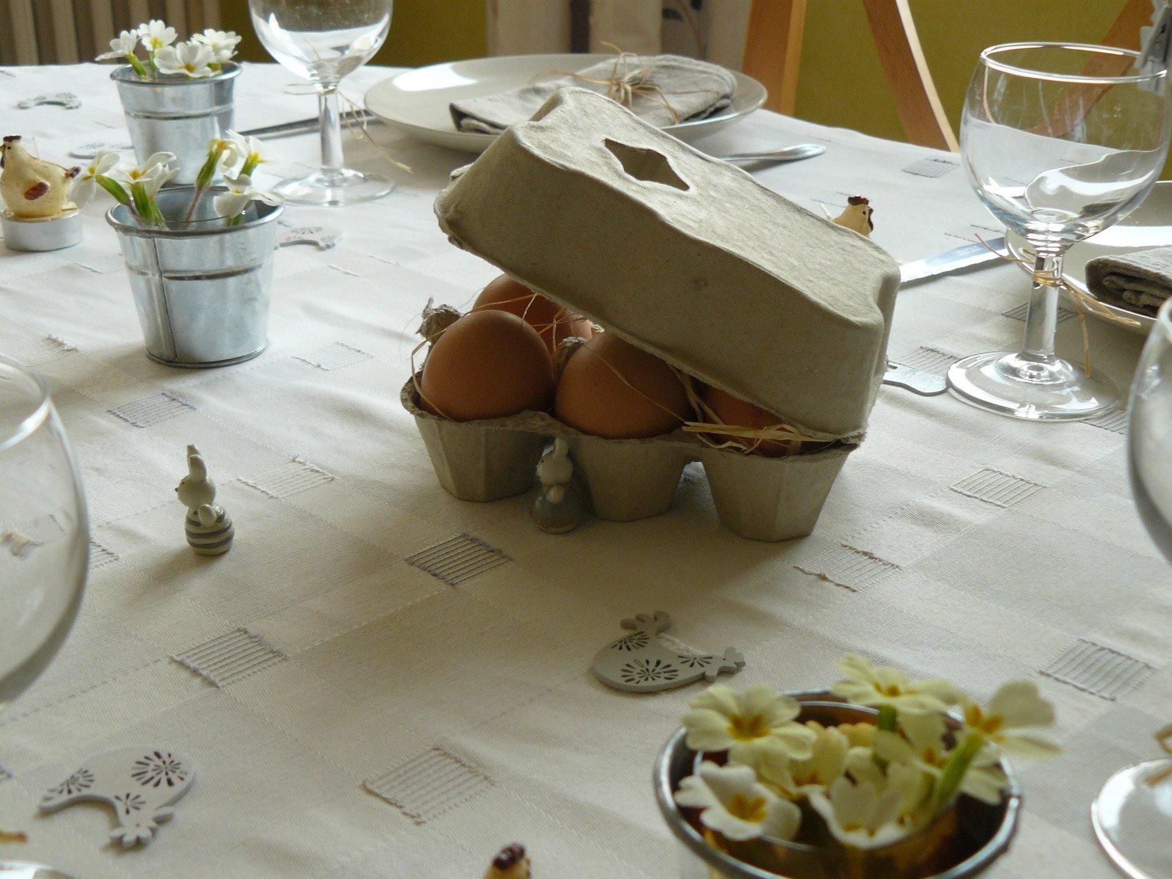 Table de p ques les bricolages d isa pour la d coration - Decoration table de paques ...